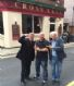 Arthur Johnson - Bernie Grimes - Rick Myers. Outside the Cross Keys Pub in Liverpool with the